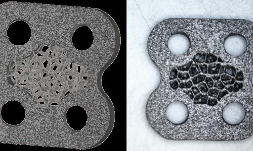 整形外科用部品(インプラント)表面粗さの意図的デザインが可能
